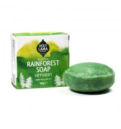 Soap ayurvedic Vegan coconut oil vetiver anti-stress and expenses.