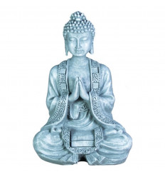 Buddha Statue Prayer / Tribute silver - Large model