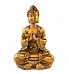 Statuette Bouddha Doré Antique pour Décoration Zen Autel Bouddhiste