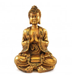 Statuette Buddha sitting aspect stone 12cm
