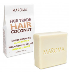 Shampoo Solid, Organic and fair trade Butter Aloe 100g Maroma.