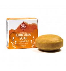 Savon ayurvédique Vegan curcuma huile de coco Holy Lama naturel.