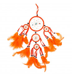 Dreamcatcher attrape rêve amérinindien orange, original et pas cher.