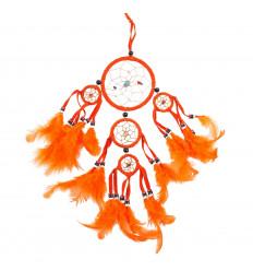 Dreamcatcher attrape rêve amérinindien orange, original et pas cher.