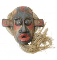 Maschera primitiva rare stile, prima arts. Deco chic moderno design.