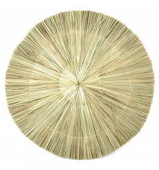 Table Set with Bohemian Round seagrass Natural Eco-friendly 36cm