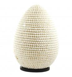 Lampada guscio di colore bianco, di forma ovale Apparecchio esotici 40cm