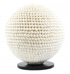 Lamp round genuine white shell - diameter 30cm