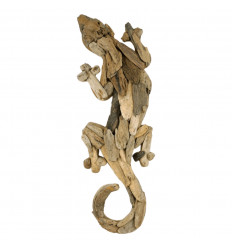 Gecko Salamander driftwood to Hang 50cm Decoration Wall