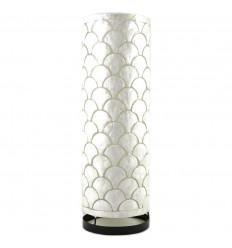 Grande lampada fatta a mano in madreperla da 50 cm con motivo Ecailles molto chic