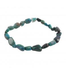 Bracelet Chrysocolle naturelle, pierres roulées qualité AAA