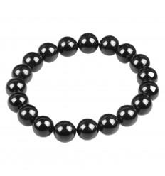 Bracelet Litho Agate noire. Equilibre énergies, protège la grossesse