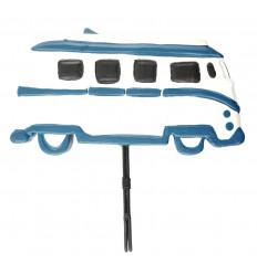 Perpetual calendar Combi / Van vintage in blue wood