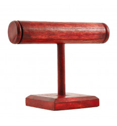 Bracelets and Watches Display 1 Ring in Red Tinted Wood