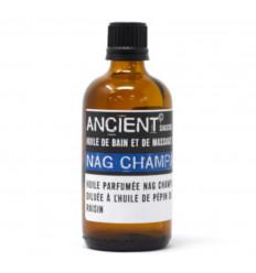 Olio da massaggio naturale, olio da bagno aromatico con fragranza Nag Champa