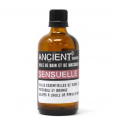 Olio da massaggio afrodisiaco, bagno aromatico con oli essenziali