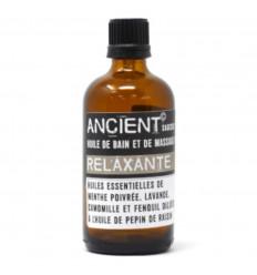 Olio da massaggio, Olio da bagno antistress con oli essenziali