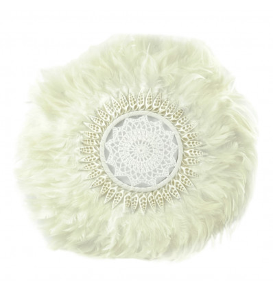 Juju Hat White Craft Feathers and Shells ø40cm