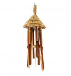Bamboo and coconut wind chime / Bird feeder