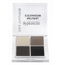 4-color organic eye shadow - Smocky Eyes - Benecos