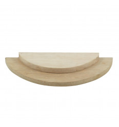 1/2 circle presentation tray - Jewelry display 2 levels in raw wood