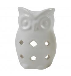 Handmade Ceramic Owl / Owl Perfume Burner - White