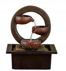 Zen Terai Indoor Fountain in Modern and Relaxing Deco Resin