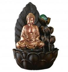 Fontaine d'intérieur Bouddha Hartha avec boule en verre et Led