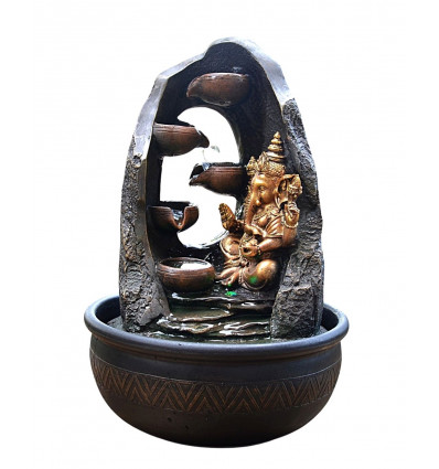 Indoor fountain Ganesh-lit led, original, and eastern.