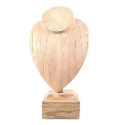 Bust display necklace created in solid wood gross H30cm