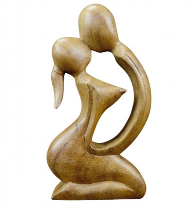Statuette abstract Couple in love in a wood. Gift erotic.
