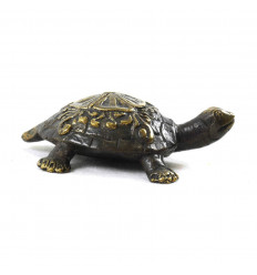 Deco Statuette Earth Turtle in Solid Bronze 8cm