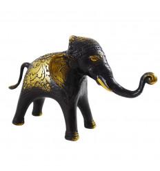 Elefante in bronzo massiccio 13 x 21 cm - Creazione artigianale