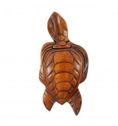 Boîte à secrets en bois - Forme Tortue