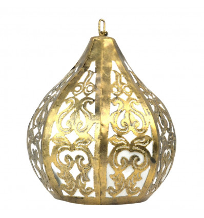 Lampadario a sospensione in ferro battuto, deco-marocchina-orientali-di bollywood.