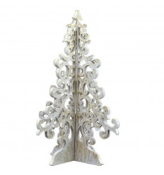Christmas tree with golden wood 30cm baroque style. Deco Christmas hand-made.