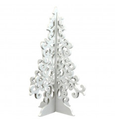 Christmas tree wooden 30cm baroque style. Deco Christmas craft.