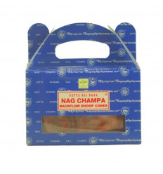 Box of 24 incense cones Backflow NAG CHAMPA - Natural Indian incense satya Sai Baba