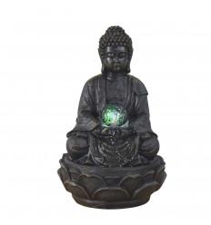 Fontaine d'intérieur Bouddha Zen méditation + boule en lévitation.