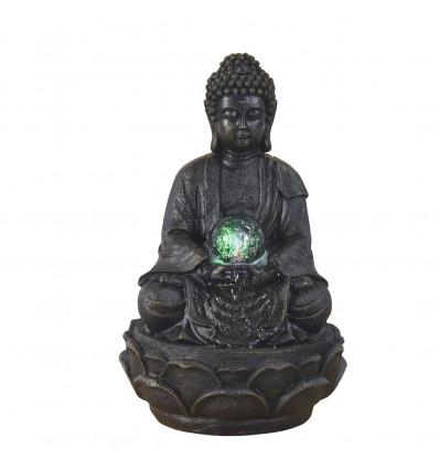 Indoor fountain Buddha Zen meditation + ball levitating.
