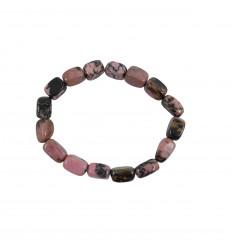 Bracelet Rhodonite naturelle, pierres roulées, 6 à 8mm qualité AAA