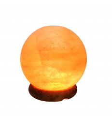 Himalayan salt crystal USB lamp in the shape of a sphere