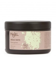 Green clay| fine Powder bio-mask face and hair mixed with fat.