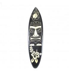 Large wooden surfboard - Tiki pattern wall decoration 100cm