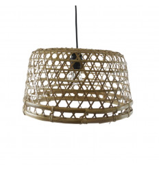 Suspension in rattan and bamboo - Handcrafted creation