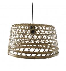 Sospensione in rattan e bambù - Creazione artigianale
