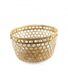 Woven Rotin Storage Basket - Bohemian style - face
