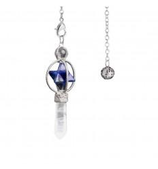 Pendolo di Cristallo di roccia, a forma di cono lucido.