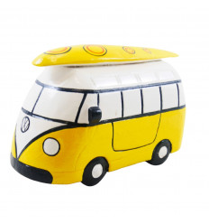 Combi Van vintage yellow wood drawer - Homemade - 3/4