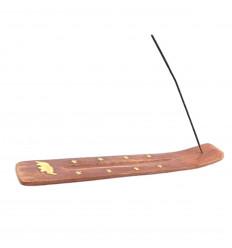 Porte-encens en bois motif Éléphant - Pour bâtons